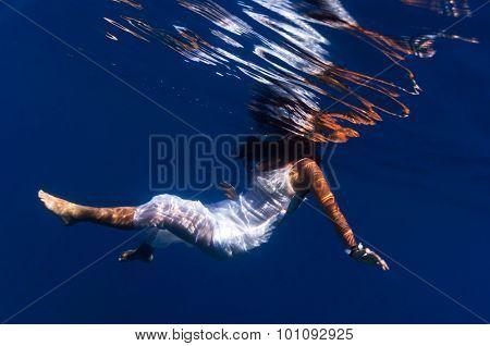 A Beautiful Girl Underwater