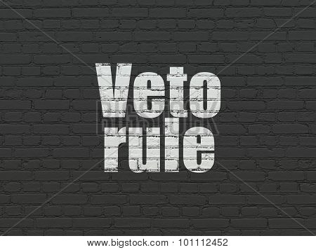 Politics concept: Veto Rule on wall background