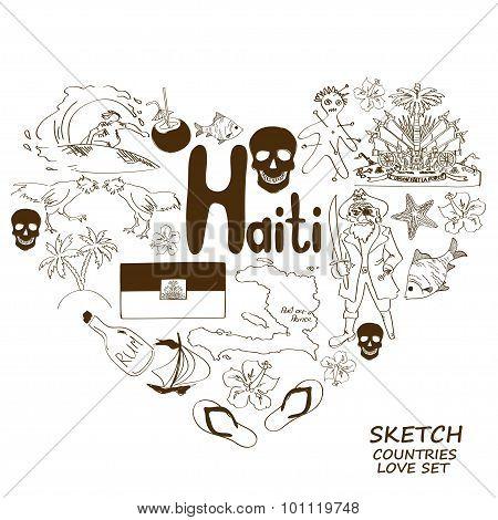 Haitian Symbols Heart Vector Photo Free Trial Bigstock
