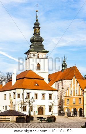 Masaryk Square, Pelhrimov, Czech Republic