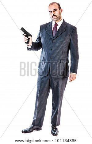 Armed Mobster