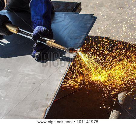 Hot Work  Steel Gas Cutting