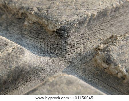 Brittle Rubber Tire