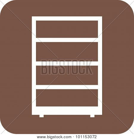 Shelf, cabinet, cupboard icon vector image.Can also be used for furniture design. Suitable for mobile apps, web apps and print media. poster