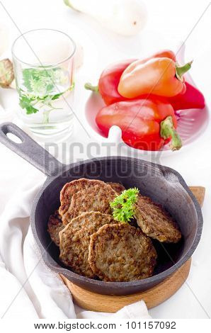 Cutlets From The Liver. Hepatic Fritters.