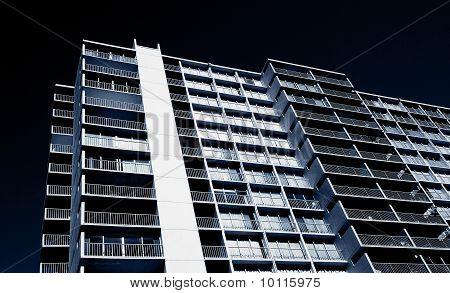 Highrise Condominium Tower With Balconies