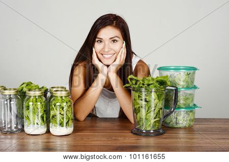 A woman doing meal prep for the week