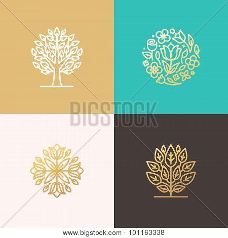 Florist And Landscape Designers Logos