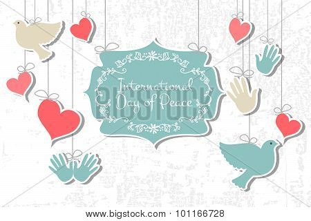 International Day Of Peace Vector Illustration.