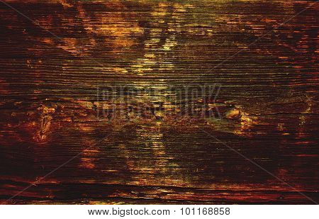 Natural brown wooden texture background with streaks poster