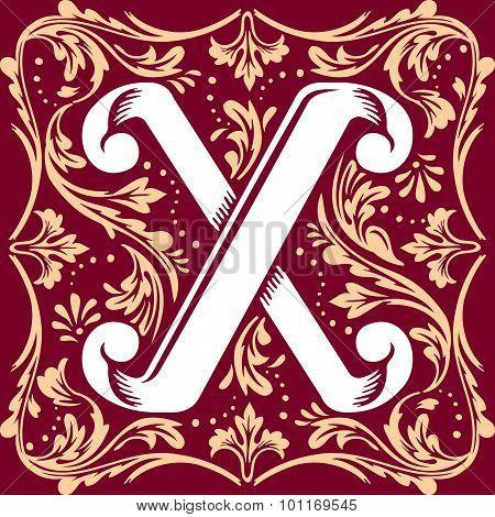 old vintage letter X