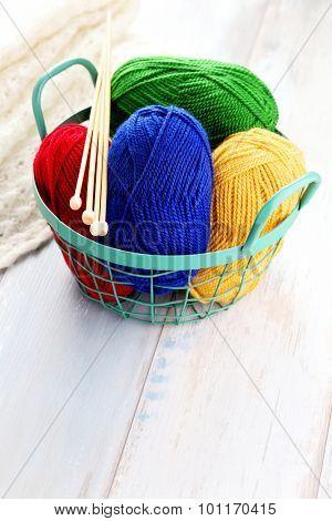 lots of colorful wool - needlecraft