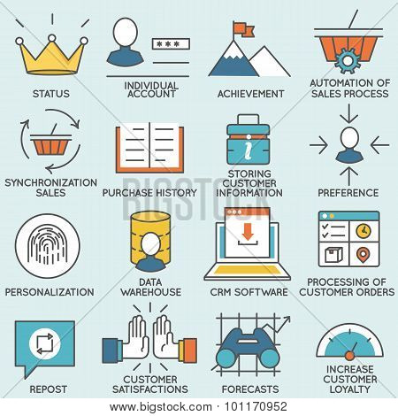 Customer relationship management icons - part 1