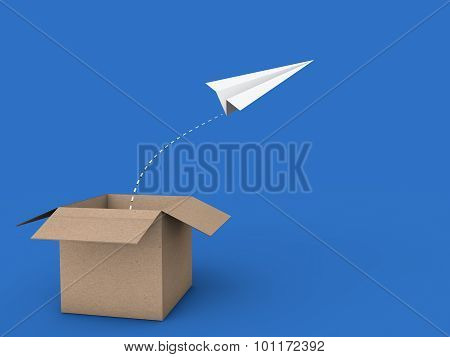 3d paper plane out of box