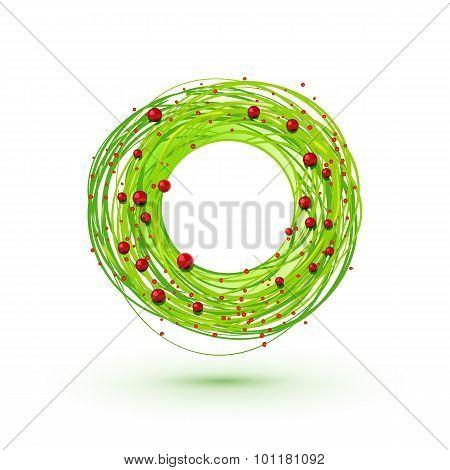 Modesrn Style Christmas Wreath