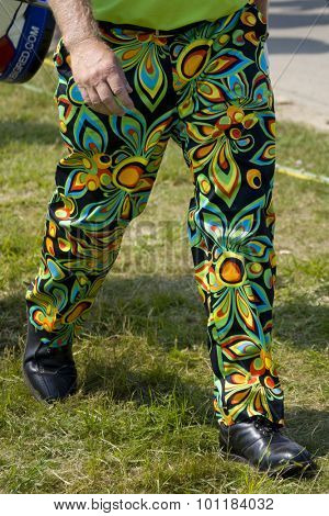 PARIS FRANCE, 02 JULY 2009. John Daly's (USA) trousers during the 1st round of the PGA European Tour Open de France golf tournament.