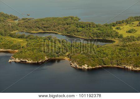 Aerial View Of Doo Lough