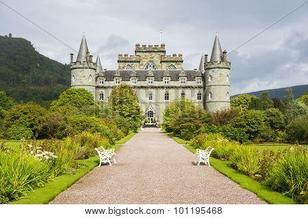 Inveraray, Argyle, Scotland August 28 - Inveraray Castle.