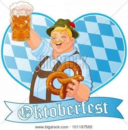 Oktoberfest guy celebrating