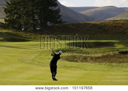 GLENEAGLES SCOTLAND, 26 AUGUST 2009. Mark Foster (GBR) competing the first round of the European Tour Johnnie Walker Championship.