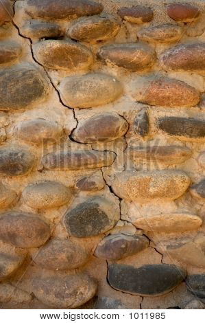 Cracked Riverrock Wall