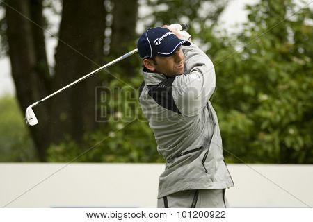 KENT ENGLAND, 27 MAY 2009. Ignacio GARRIDO (ESP) playing in the pro-am event part of the European Tour European Open golf tournament.