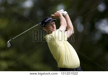 WENTWORTH, ENGLAND. 23 MAY 2009.Anders HANSEN DEN  playing in the 3rd round of the European Tour BMW PGA Championship.