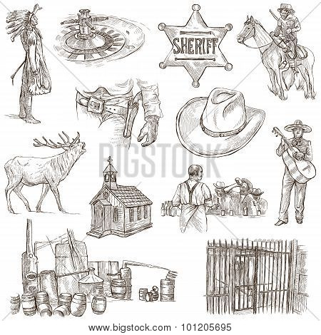 Indians And Wild West - An Hand Drawn Pack.