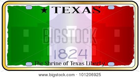Texas Alamo License Plate