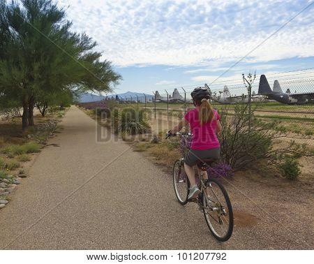 Aviation Bikeway, Tucson, And The Davis Monthan Boneyard