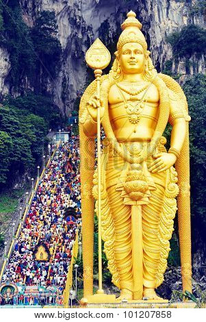 Shrine at Batu Cave Thaipusam Festival Spirituality Concept