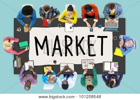 Market Consumer Product Buyer Marketing Concept poster