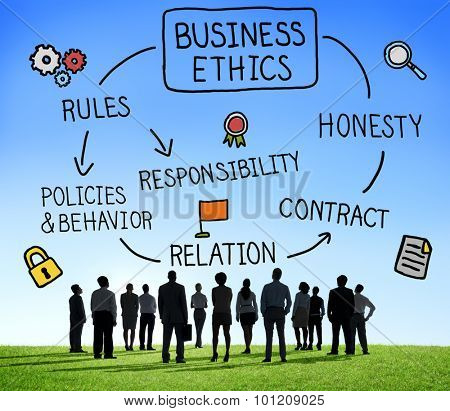 Business Ethnics Rules Honesty Responsibility Concept