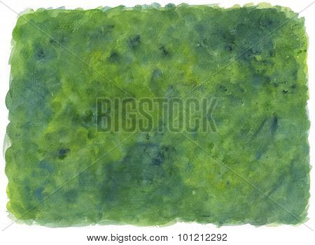 Green painted  textured background - watercolor