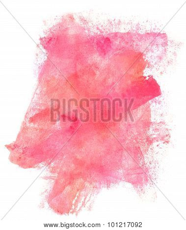 Abstract watercolor pink background texture
