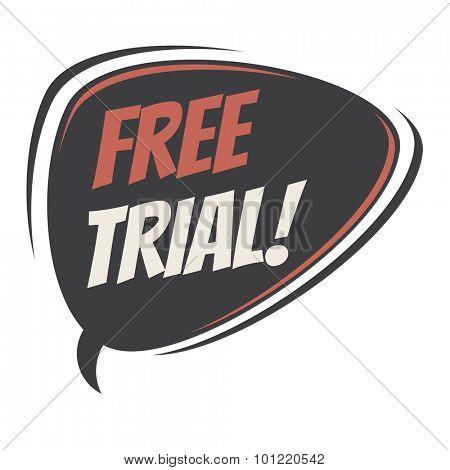 free trial retro speech bubble poster