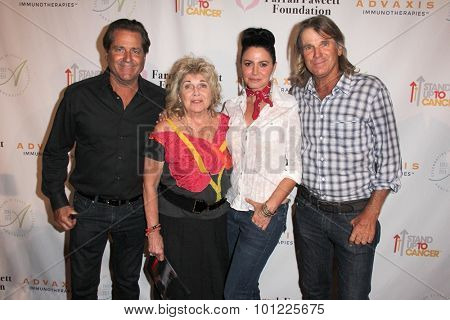 LOS ANGELES - SEP 9:  Jimmy Van Patten, Pat Van Patten, Nancy Valen, Nels Van Patten at the Farrah Fawcett Foundation Fiesta at the Wallis Annenberg Center on September 9, 2015 in Beverly Hills, CA