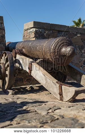 Historic Cannon, Colonia Del Sacramento, Uruguay. Traveling History Items.
