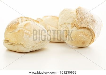 Fresh Bread Over White