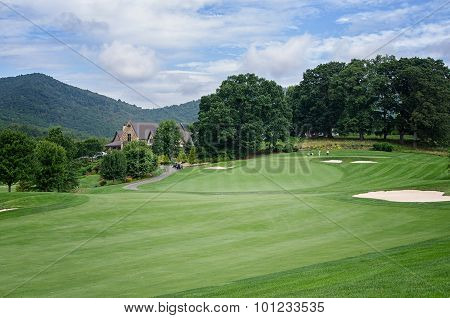 Beautiful Golf Fairway to Green