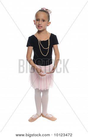 Dance Girl On White