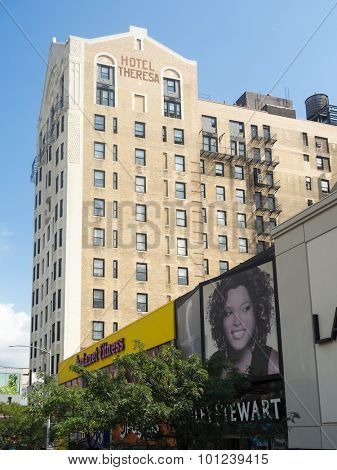 NEW YORK,USA - AUGUST 19,2015 : The famous Hotel Theresa in Harlem