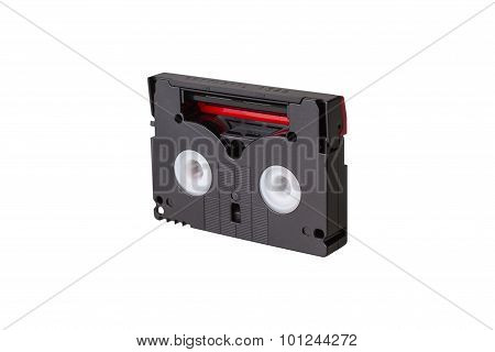 Mini Dv Cassette Isolated On White Background