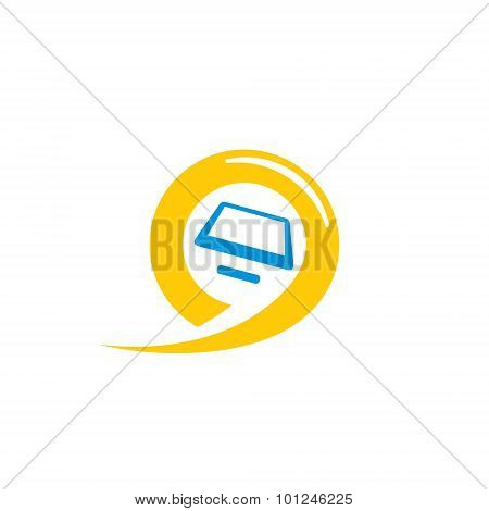 Payment terminal abstract vector sign. Design template Isolated on a white background