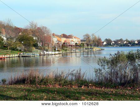 Lake Front Homes.
