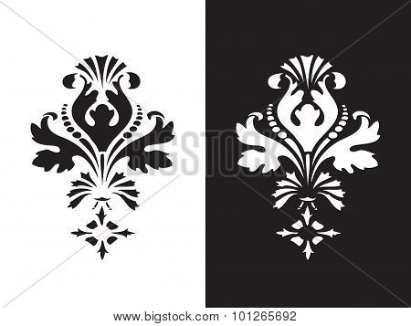 Vector Abstract Flower Element Design Isolated