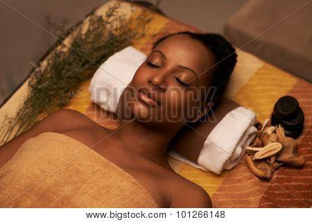 Having spa procedure