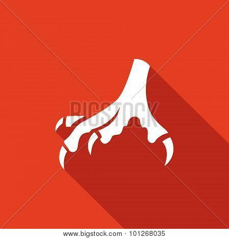 Chicken Feet Vector Icon