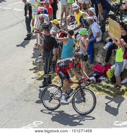 The Cyclist Damiano Caruso On Col Du Glandon - Tour De France 2015