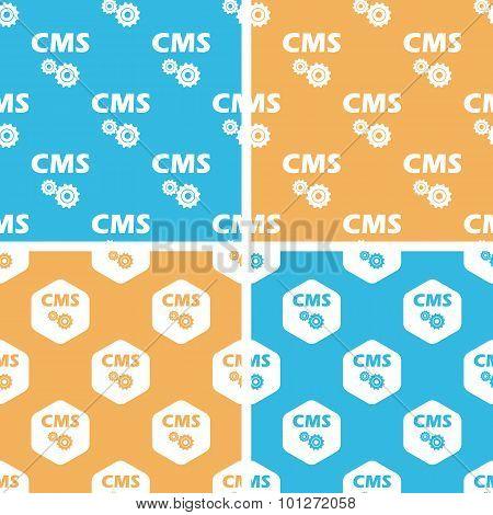 CMS settings pattern set, colored